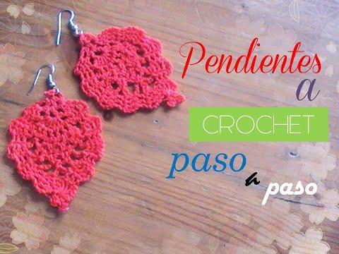comprar online 3c706 880f9 PENDIENTES sencillos a crochet PASO A PASO (diestro) - YouTube