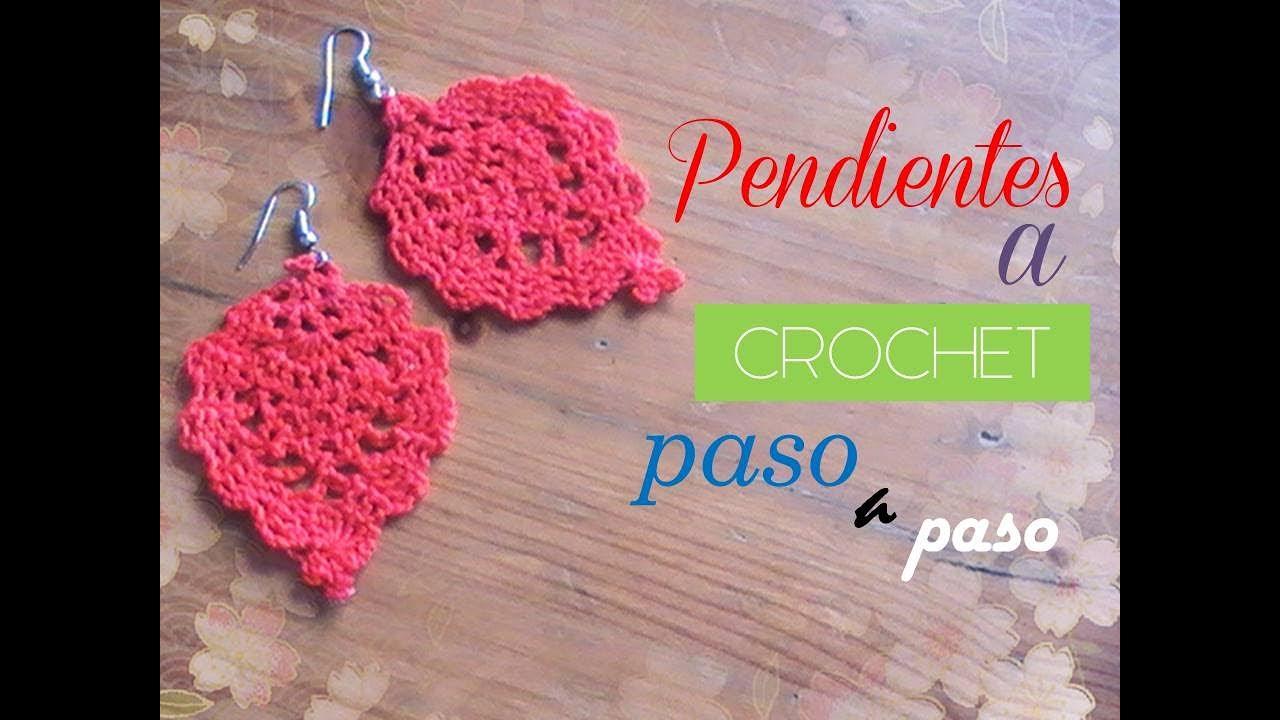 PASO A PASO para tejer unos sencillos pendientes a crochet (diestro ...