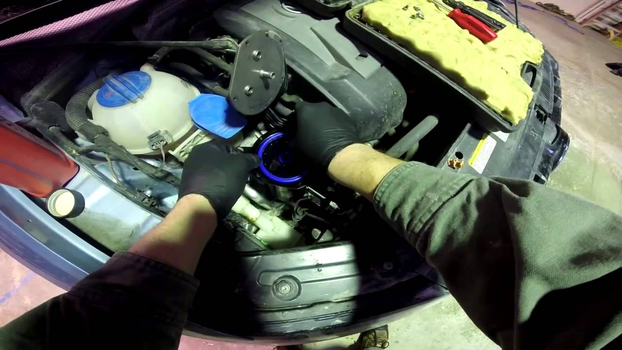 hight resolution of changing fuel filter on a 2013 vw passat tdi