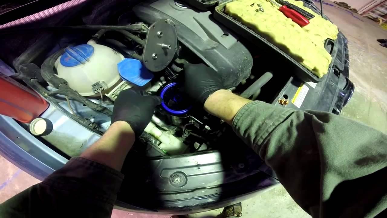 changing fuel filter on a 2013 vw passat tdi [ 1280 x 720 Pixel ]