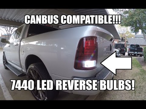 Led Reverse Backup Bulbs Canbus Compatible Bulb Type 7440 Dodge Ram 1500 2500 3500 Youtube