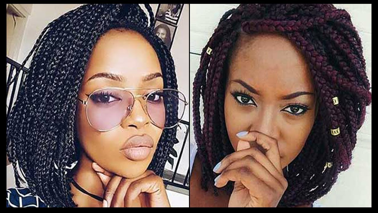 short box braids hairstyles for black women || box braids short hair | box braids styles 2018