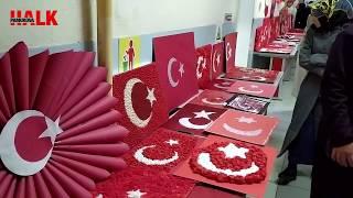Pamukova 75  Yıl İlkokulunda Minik kalplerin bayrak sevinci