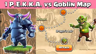One PEKKA VS Goblin Maps | Clash of Clans