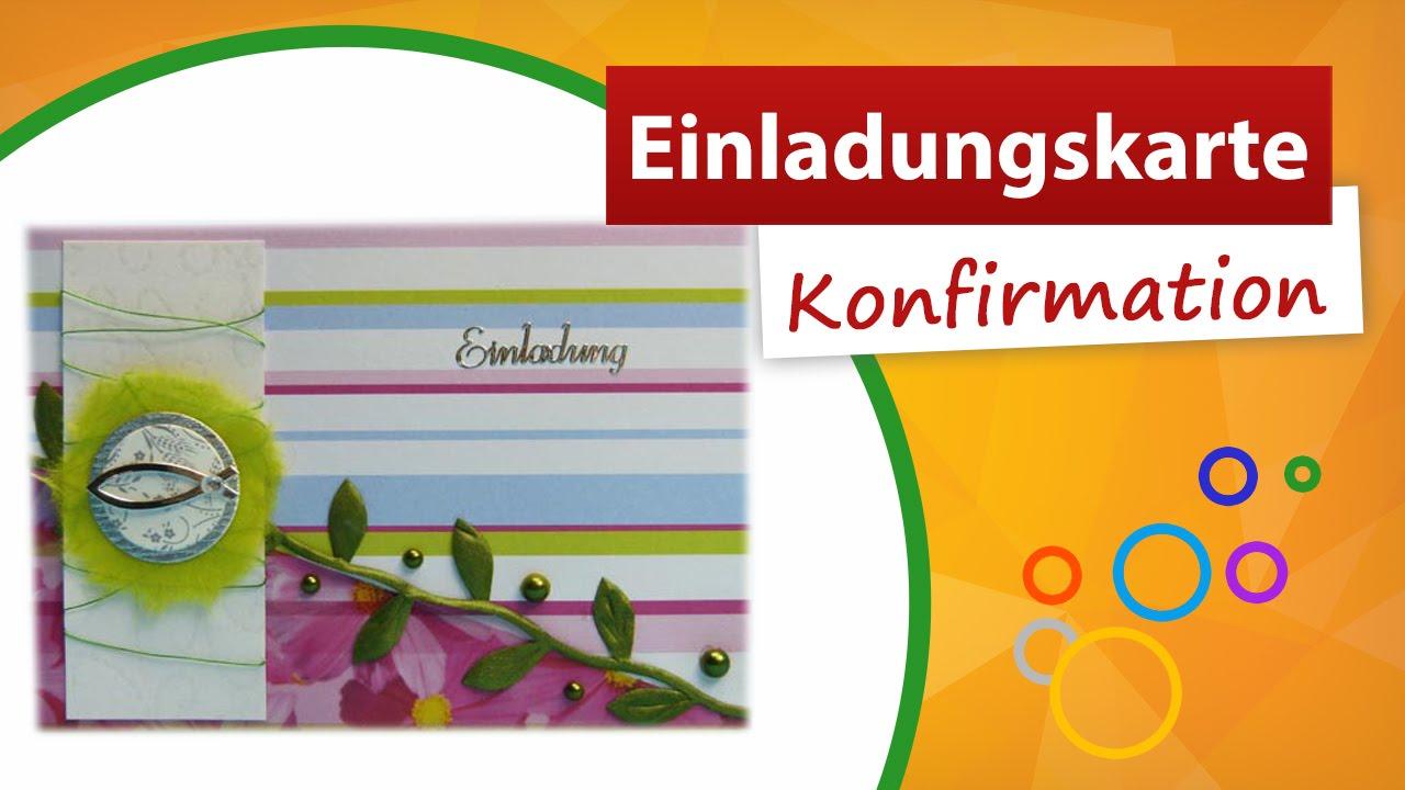 ♥ einladungskarten konfirmation selbst gestalten ♥ trendmarkt24, Einladung