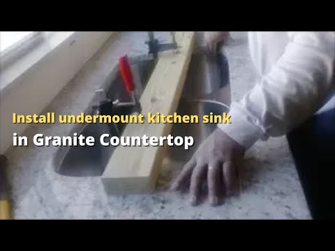 How To Install An Undermount Kitchen Sink To A Granite Countertop Step By Step