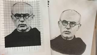 Time Lapse Drawing - St Maximilian Kolbe