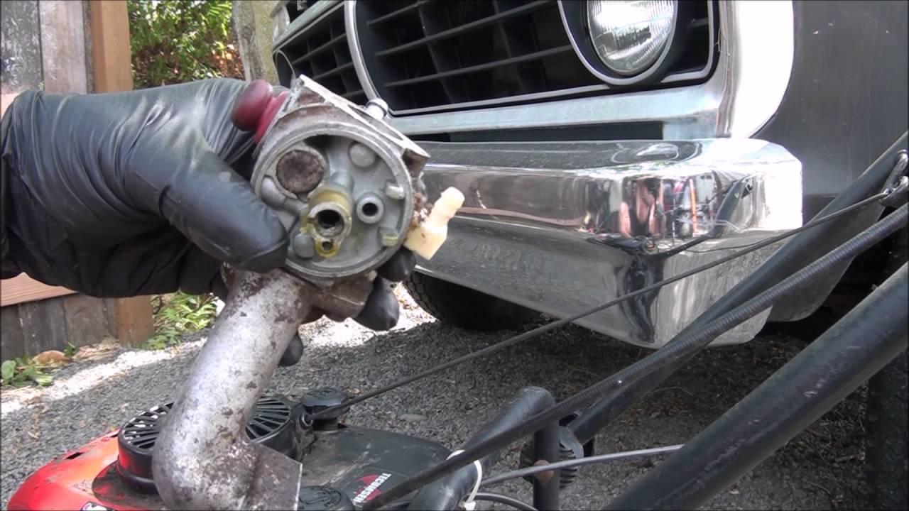 TECUMSEH CARBURETOR REBUILD: Craftsman , TORO , Lawnmower CARB  Fix repair