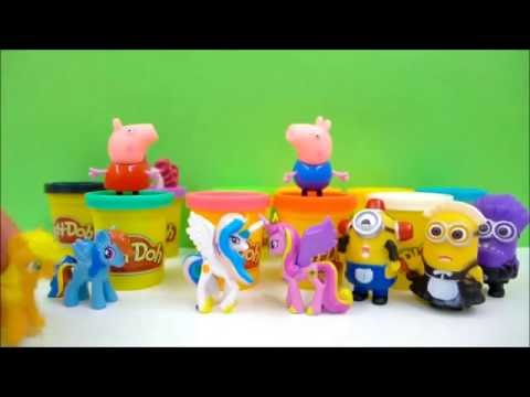 Play doh ideas - surprise egg videos for kids Peppa Pig and Minions Compilation