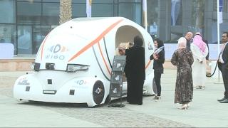 عرض أول سيارة ذاتية القيادة مصنوعة بالكامل في الامارات