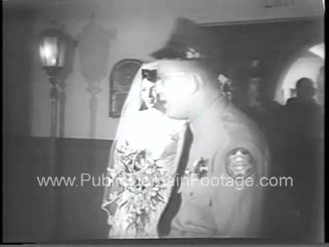 Actress Susan Ball marries actor Dick Long newsreel and archival stock footage