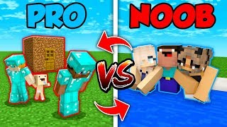 Minecraft NOOB vs. PRO : SWAPPED FAMILY LIFE in Minecraft (Compilation)