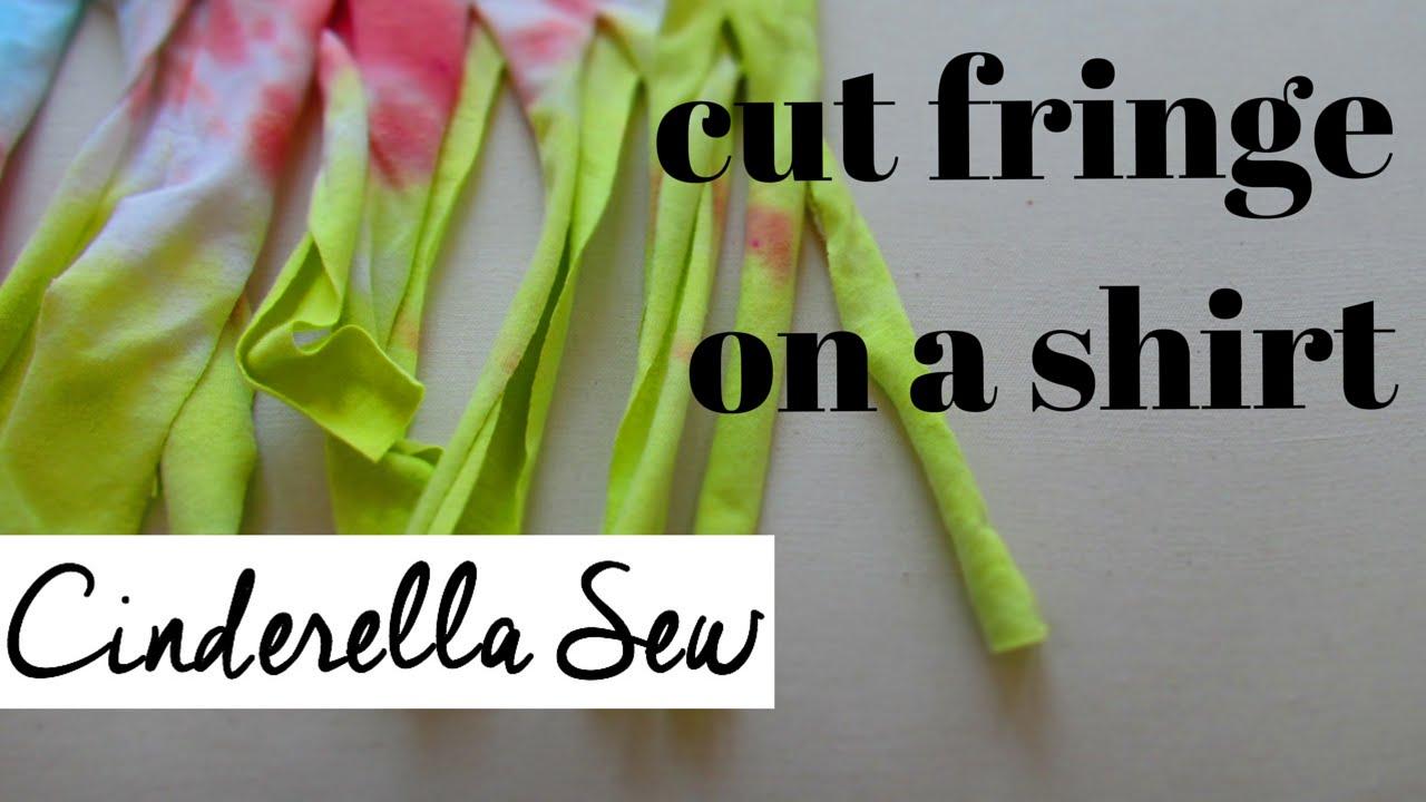 how to make a fringe shirt