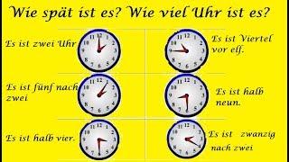 Урок 8 немецкий для начинающих как спросить время