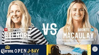 Stephanie Gilmore vs. Bronte Macaulay - Quarterfinals, Heat 3 - Corona Open J-Bay - Women's 2018