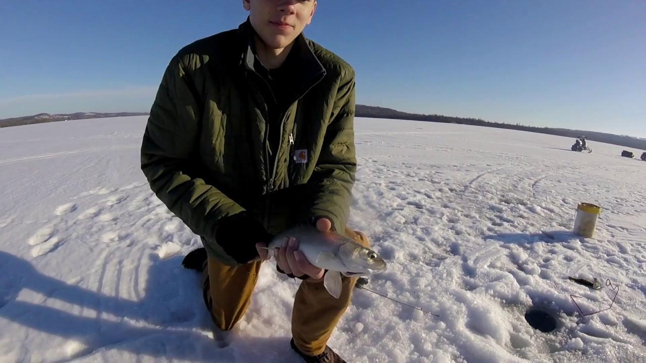 Northern michigan ice fishing youtube for Michigan ice fishing