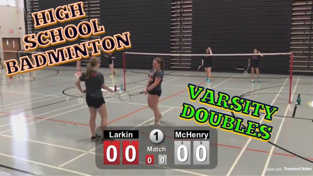 High School Badminton - McHenry Vs Larkin Varsity Doubles