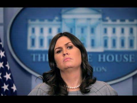 EN VIVO: Rueda de prensa de la Casa Blanca con la portavoz Sarah Huckabee