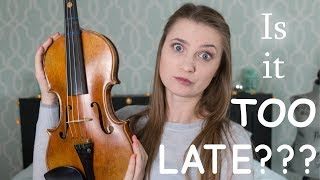 Is it too late to learn a musical instrument? Am I too old to play Violin-My Experience + Giveaway