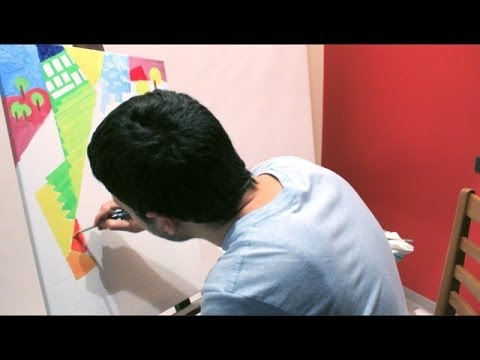 Dipingere quadro olio su tela astratto - Parte 1 (Speed paint ...