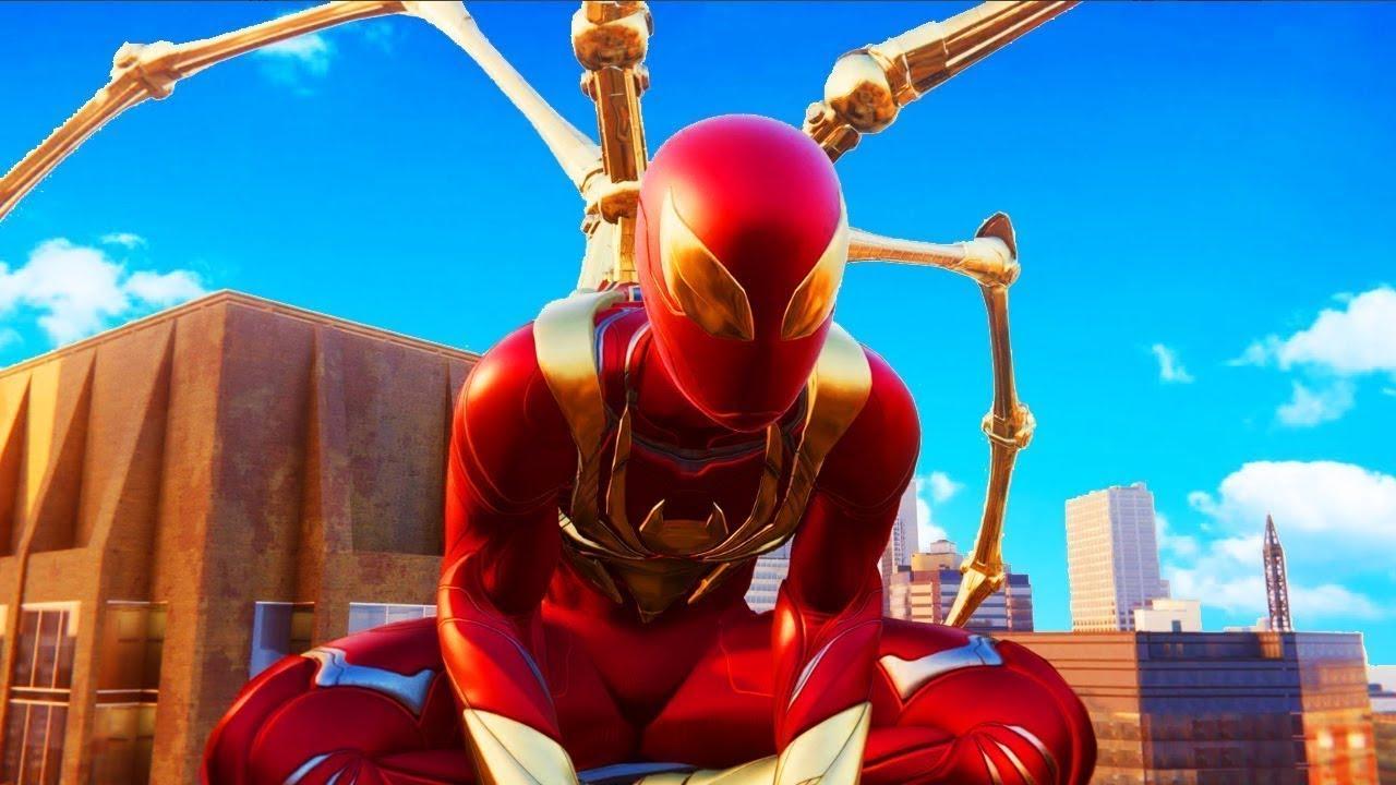 Железный Человек Паук в Майнкрафт - YouTube