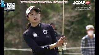 Beautiful Miura Momoko Golf Shot Highlights 2018 T Point Japan LPGA