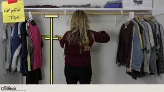 One Stop Closets - How To Measure A Closet With Onestopclosets.com