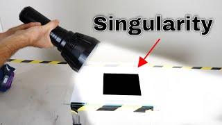 100,000 Lumen Flashlight vs Singularity V3 (The Brightest Flashlight vs The Blackest Material)