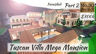 Roblox | BLOXBURG: Tuscan Villa Mega Mansion (Speedbuild) (Part 2)