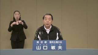 【政見放送】2016東京都知事選挙 山口敏夫 民放