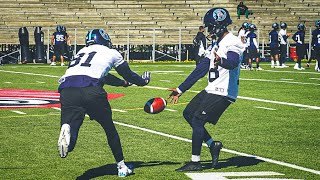 MY FIRST PRACTICE AS A PRO FOOTBALL PLAYER.. (HARDER THAN I THOUGHT) thumbnail