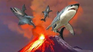 ESTO ES REAL: Científicos de la Élite Preparan Ataques de Volcanes con Tiburones.