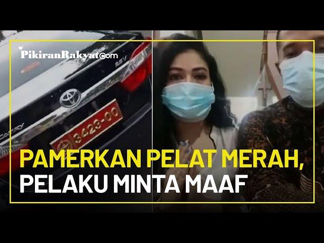 Minta Maaf Usai Pamerkan Mobil Pelat Merah Milik Suami, Pelaku: Itu Pelat Bodong