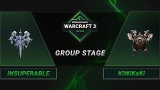 WC3 - iNSUPERABLE vs. KiWiKaKi - Groupstage - DreamHack WarCraft 3 Open: Summer 2021 - America