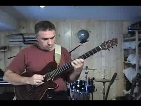 Jake Reichbart jams over Larry Carlton style track, jazz rock fusion guitar