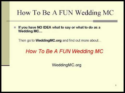 How To MC A Wedding