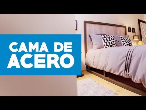 C mo hacer una cama de acero youtube for Como hacer un sillon con una cama