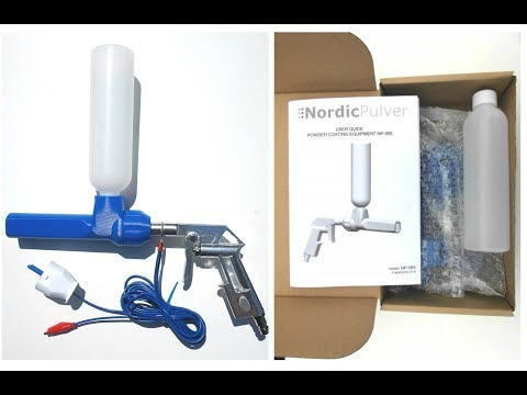 Powder Coating With NordicPulver NP-09 Powder Coating Gun // Pulverbeschichtung