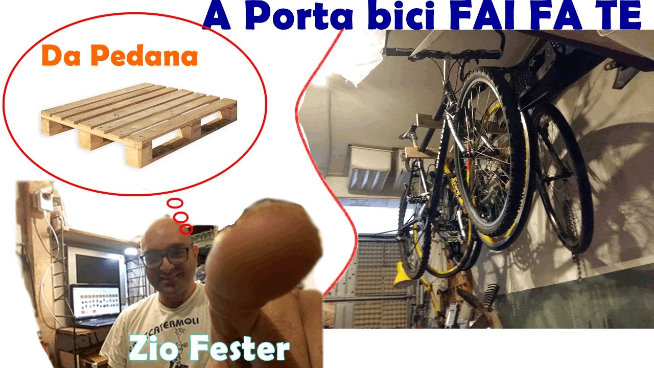 Porta bici da garage fai da te youtube for Panchine fai da te