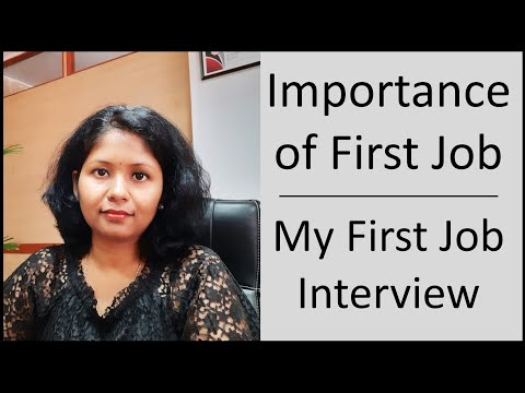 Importance Of First Job | My First Job Interview Experience 🤩