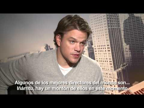 Entrevista exclusiva: Matt Damon quiere trabajar con Pedro Almodóvar (subtitulado)