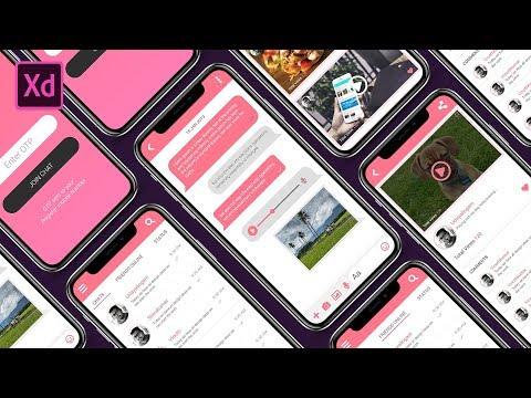 Chat On App UI Design Using Adobe XD   APP UI Design   Adobe XD UI Design