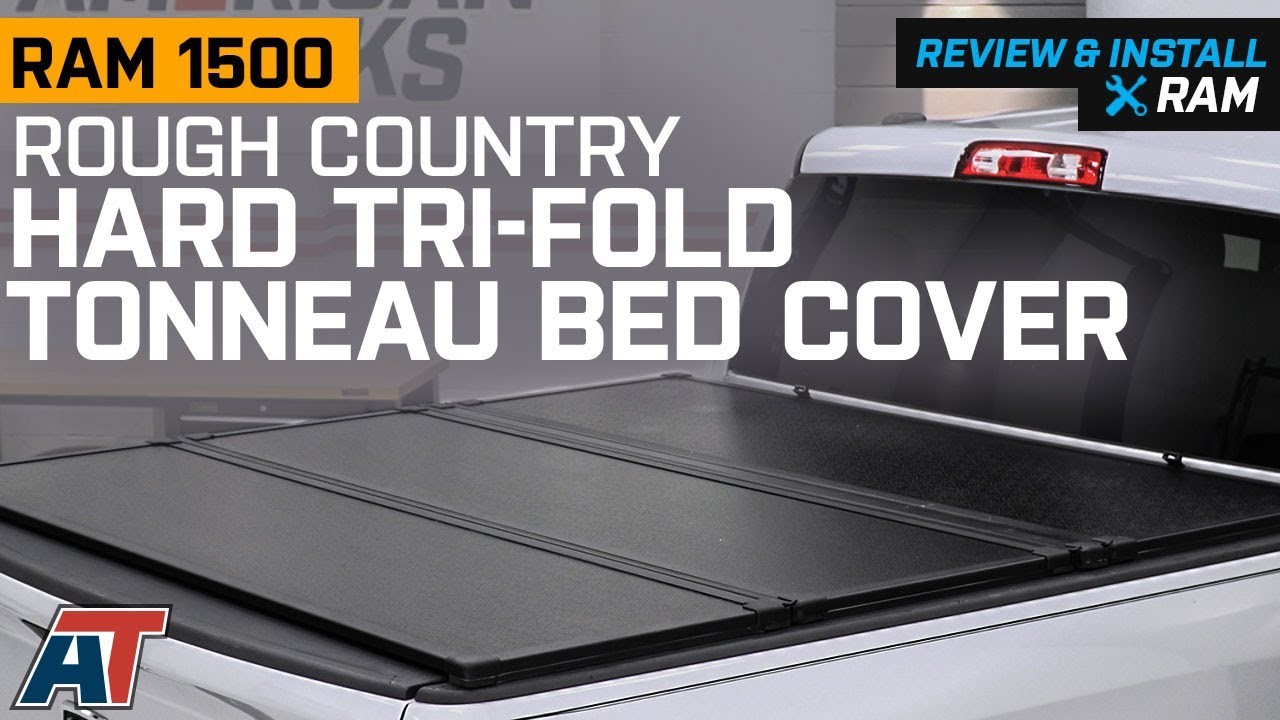 2009 2018 Ram 1500 Rough Country Hard Tri Fold Tonneau Bed Cover Review Install Youtube