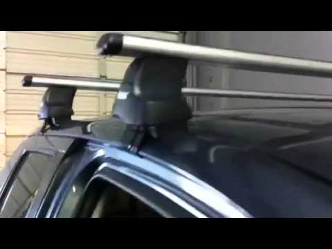 Toyota Tundra With Thule 480r Traverse Roof Rack Instal
