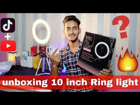 Unboxing 10inch Best Ring Light 🔥 for Tik Tok and Youtube Video shooting under 1500 Unboxing Reviw