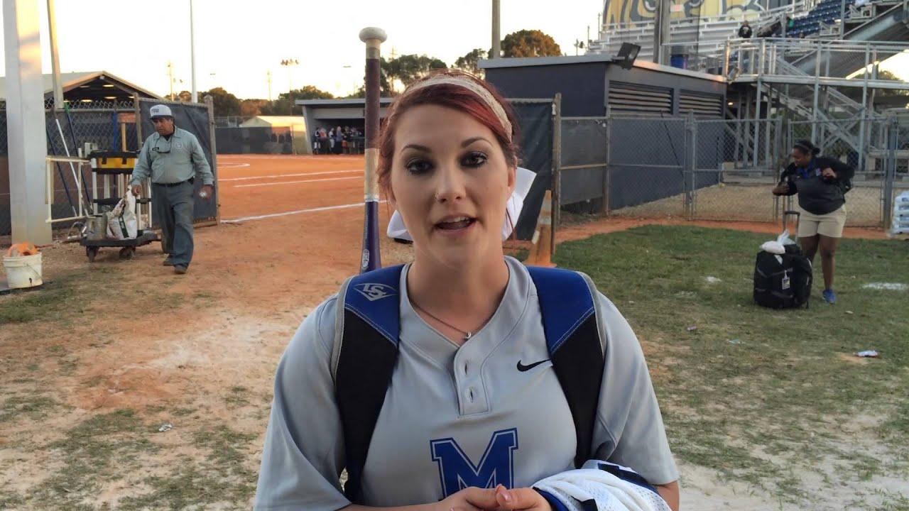 Memphis Softball Postgame v FIU - Cierra Mangum - YouTube