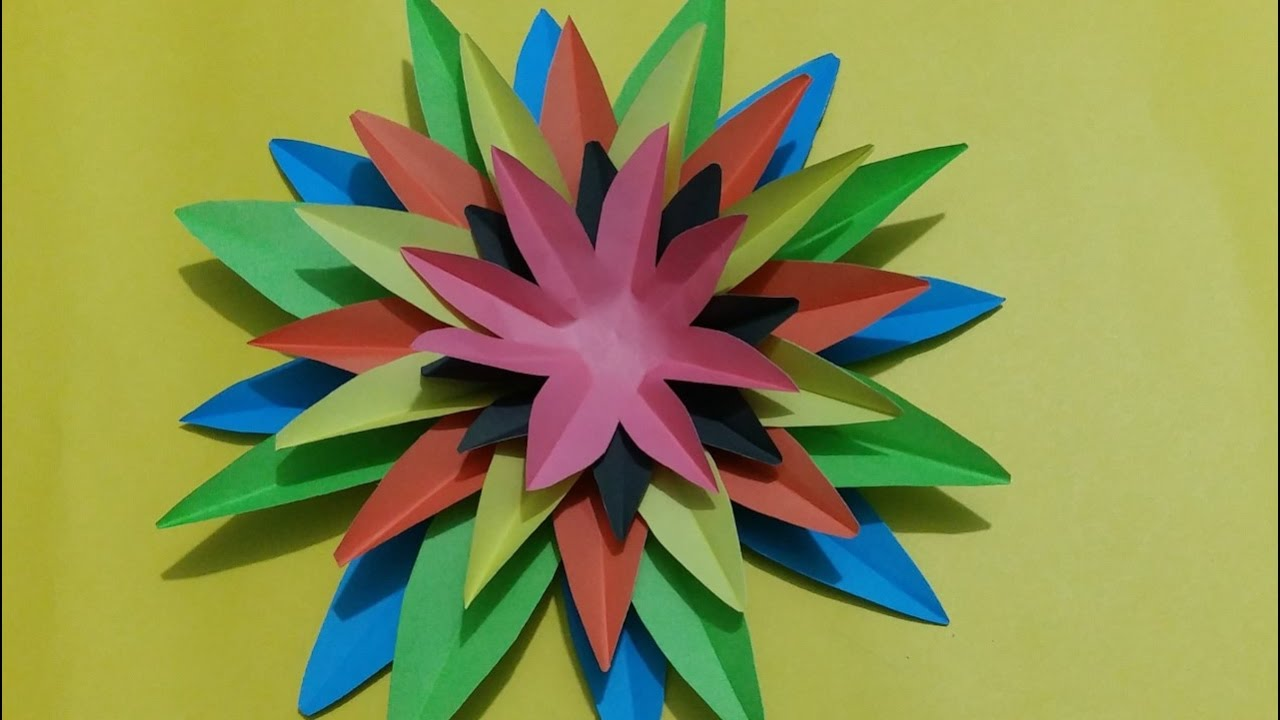 Awesome Paper Crafts flower Wall Decor ideas - diy craft ...