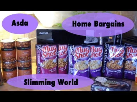 Asda Home Bargains Grocery Food Haul Slimming World