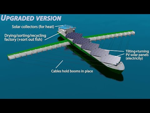 Upgraded ocean cleaner ship to remove plastic, garbage, oil spills
