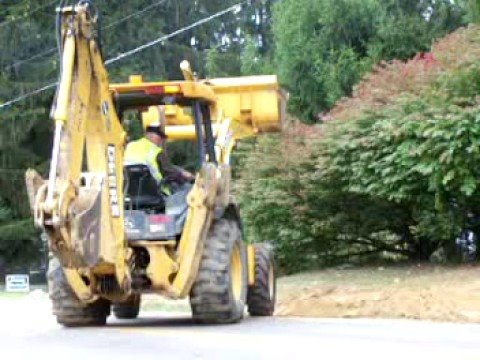 Wild Backhoe on Dresden Road